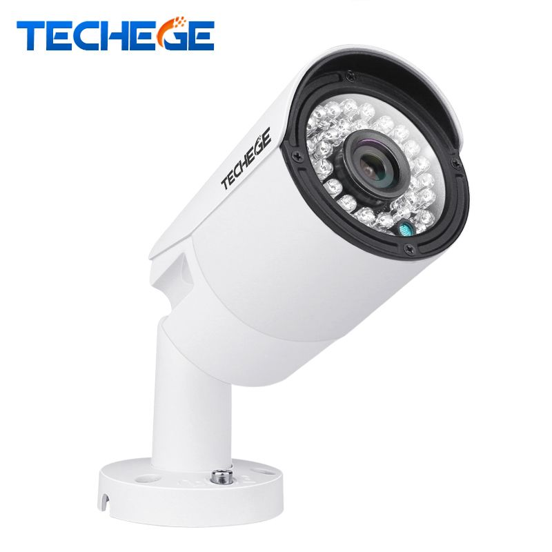 Techege 2MP POE IP Camera HD Night Vision Waterproof IP66 Outdoor P2P ONVIF 2.0 Motion Detection Xmeye 1.3MP 1.0MP IP Camera