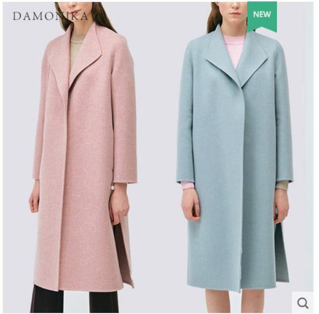 Die lange rosa woolen jacke der frauen der sommer 2018 neue stil sieht dünn und hohe-ende