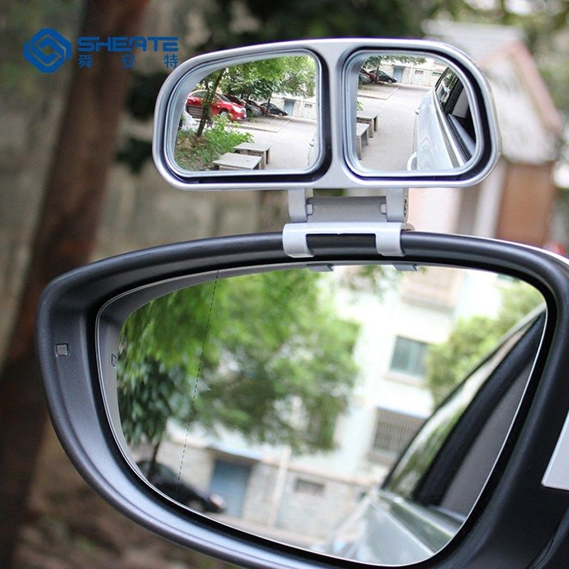SHEATE 1PCS/2PCS Car Rearview Blind Spot Mirror Double side mirrors 360 degree adjustable Wide angle Rear view accessories