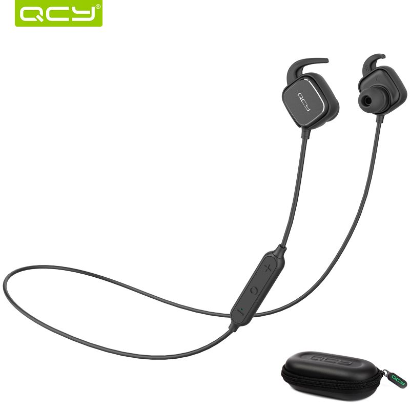 QCY QY12 Sports Bluetooth Earphone Magnet Switch Wireless Headset Music Earbuds with Mic And Portable Storage Box