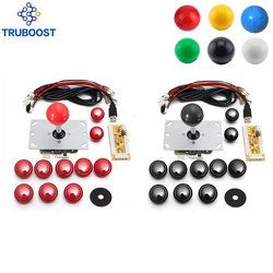 Arcade MAME DIY Kits For 2 Player PC Computer Games To Arcade Joystick Buttons 6 Colors