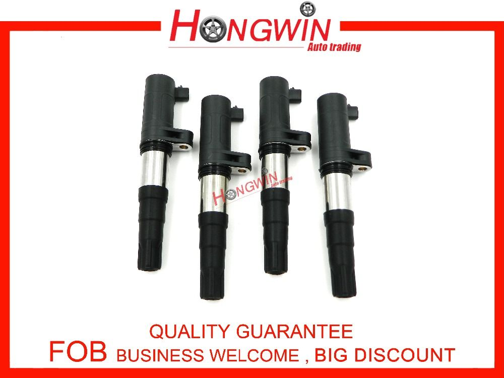 4Pcs 8200765882 Ignition Coil For Renault Megane Mk3 08-13/Grand Scenic 04-09/Scenic 01-03 7700113357,7700113357, 8200154186