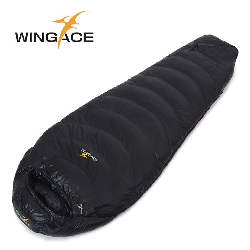 WINGACE remplissage 600G 1000G sac de couchage en duvet d'oie momie ultralégère randonnée uyku tulumu alpinisme extérieur camping sac de sommeil