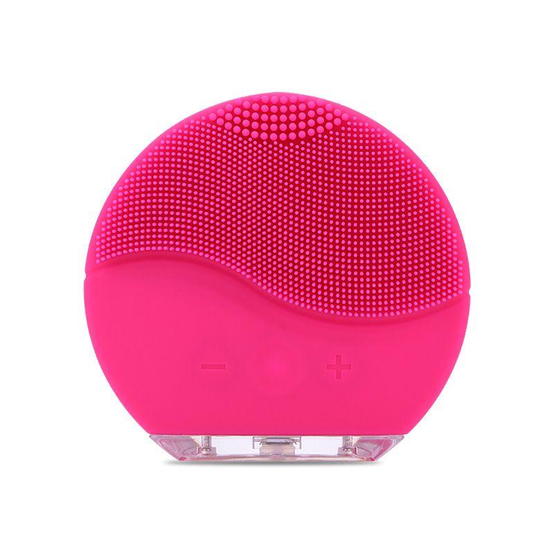 Nouvelle brosse de nettoyage du visage électrique Silicone Vibration sonique Mini nettoyant nettoyage des pores en profondeur Massage de la peau nettoyage de la brosse du visage