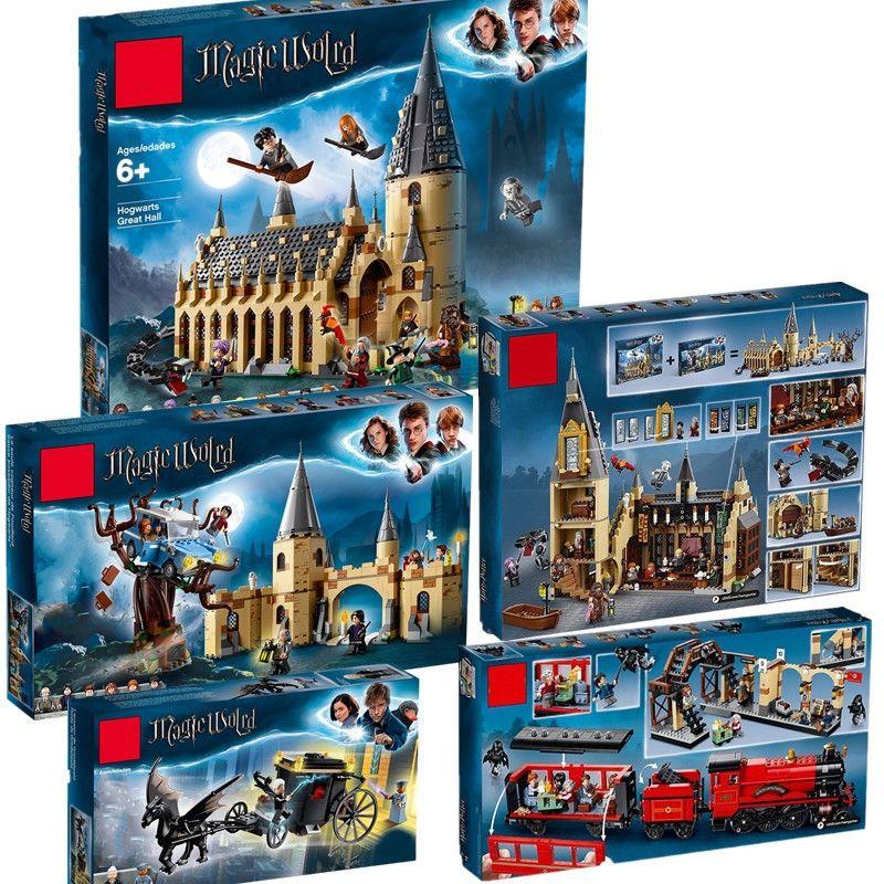 Harri Potter Film Salle Du Château 75952 75953 75954 75956 75957 Compatible Avec Legoinglys Modèle Building Block Briques Jouets Aucune Boîte