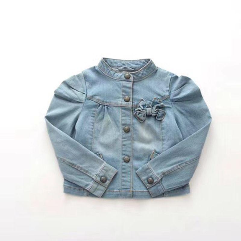 3-12Yrs Children Outerwear & Coat Girls Hole Denim Jackets Coats New 2018 Fashion Spring Children Outwear Coat Kids Denim Jacket