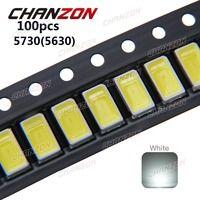 100 шт. SMD 5730 Диод Белый SMD5730 0,5 Вт светодио дный 5630 6000 К 6500 К супер яркий чип SMD5630 5730SMD 150mA PCB SMT светодиод