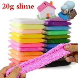 Novidades Color Snow Mud Fluffy Floam Slime Anti-Stress Toy DIY Novelty Puzzle Bead Slime Toy Sludge Mud Toy Light  Clay