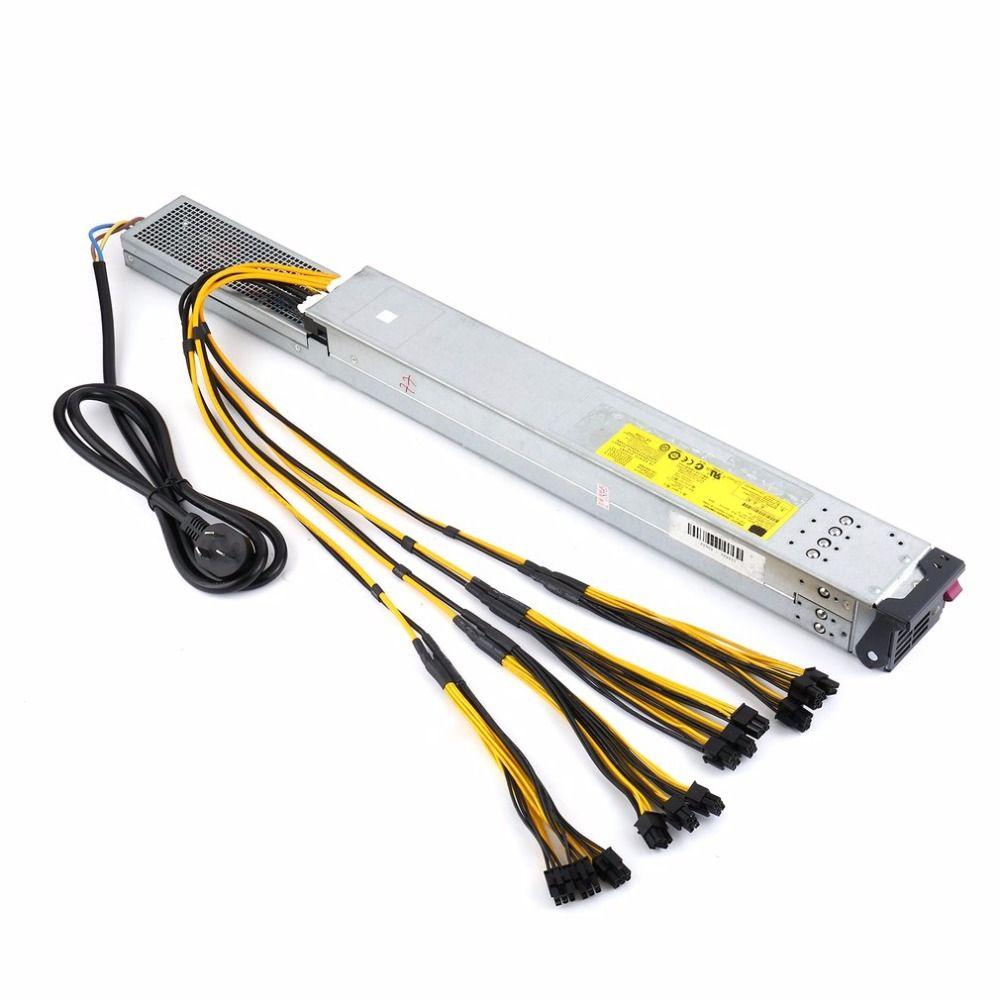 Hohe Effizienz 2450 Watt Netzteil Server NETZTEIL mit Ready-To-Use Verdrahtung für Antminer Bergbau Miner Maschine