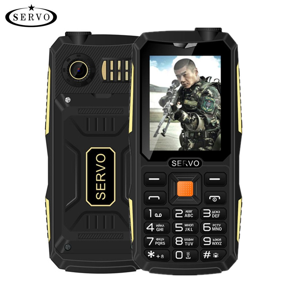 Quad Sim Original SERVO V3 mobile phone Dustproof Shockproof 2.4'' Phone 4 SIM cards 4 standby GPRS Russian Language keyboard