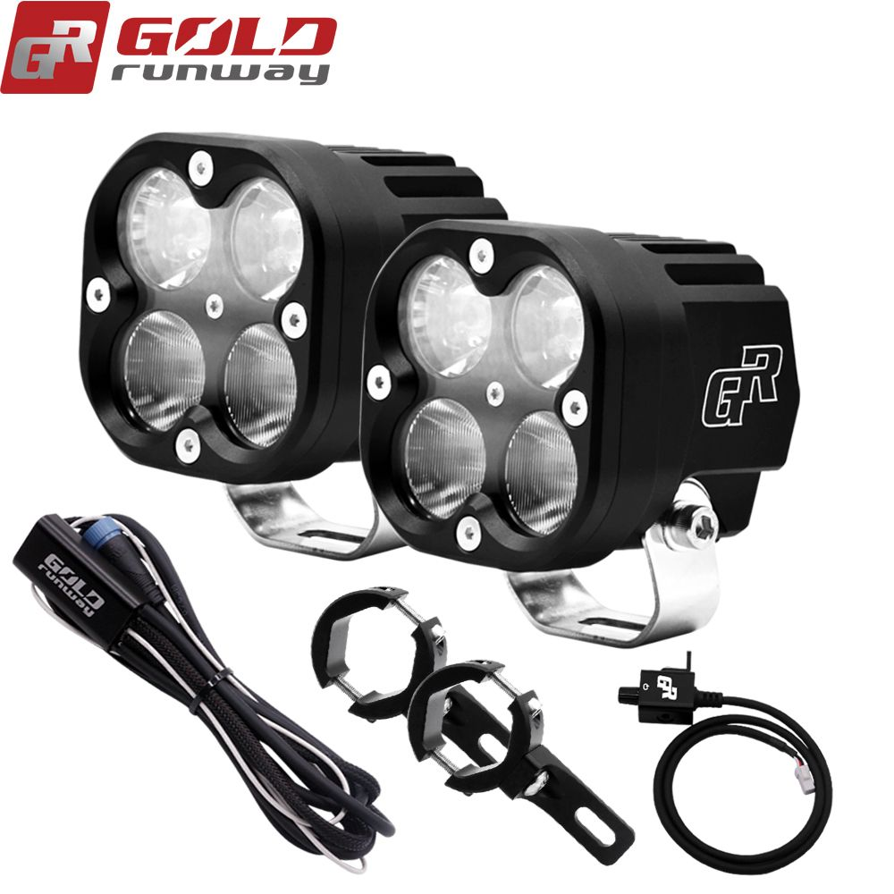 GOLDRUNWAY X4 40 W LED Hilfs Lichter LED Arbeit Licht Spot/Flut/Combo Lampe Fahren Nebel 12 V 4200 ml Motorrad Scheinwerfer Headligh
