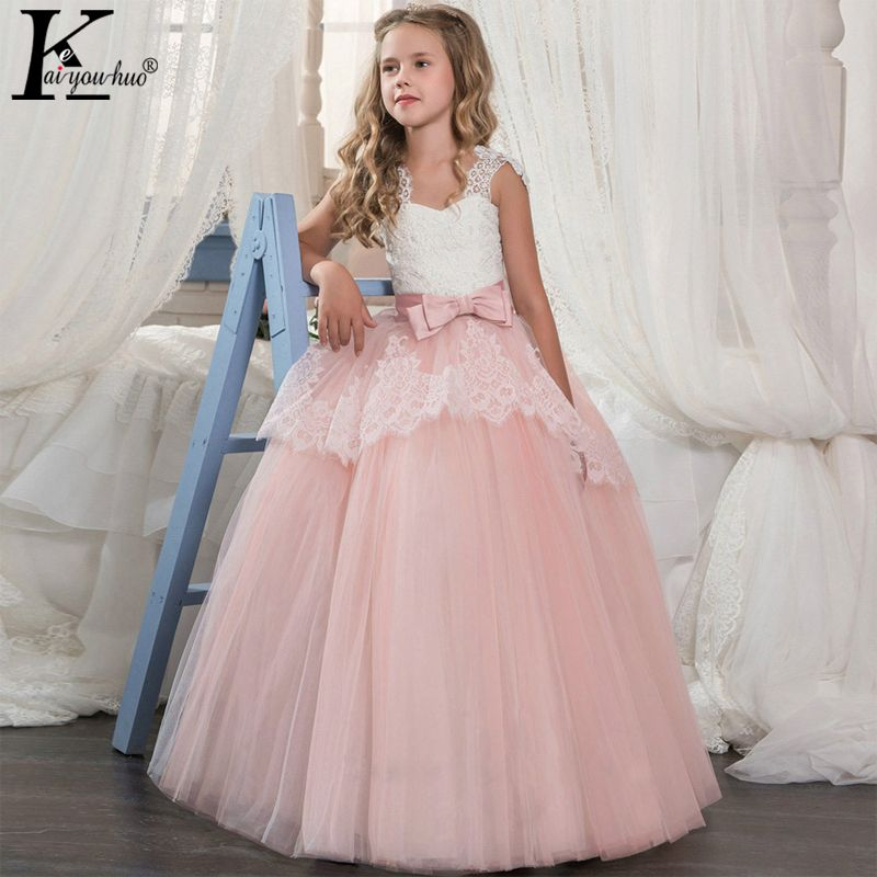 New Princess Girls Dress 2018 New Summer Performance Perty Dress Elegant Kids Dresses For Girls Clothes Vestidos Wedding Dresses