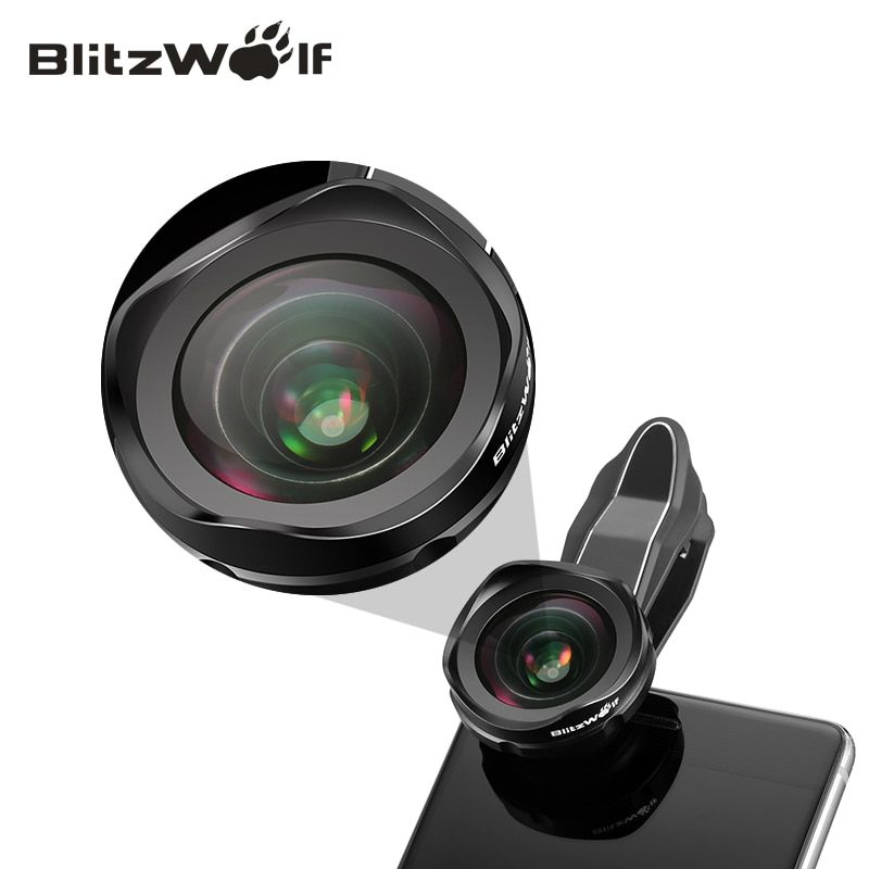 BlitzWolf Mobile Phone Lens Camera Lens Optical 120 Degree Wide Angle Lens Kit With Clip Universal For Android For iPhone