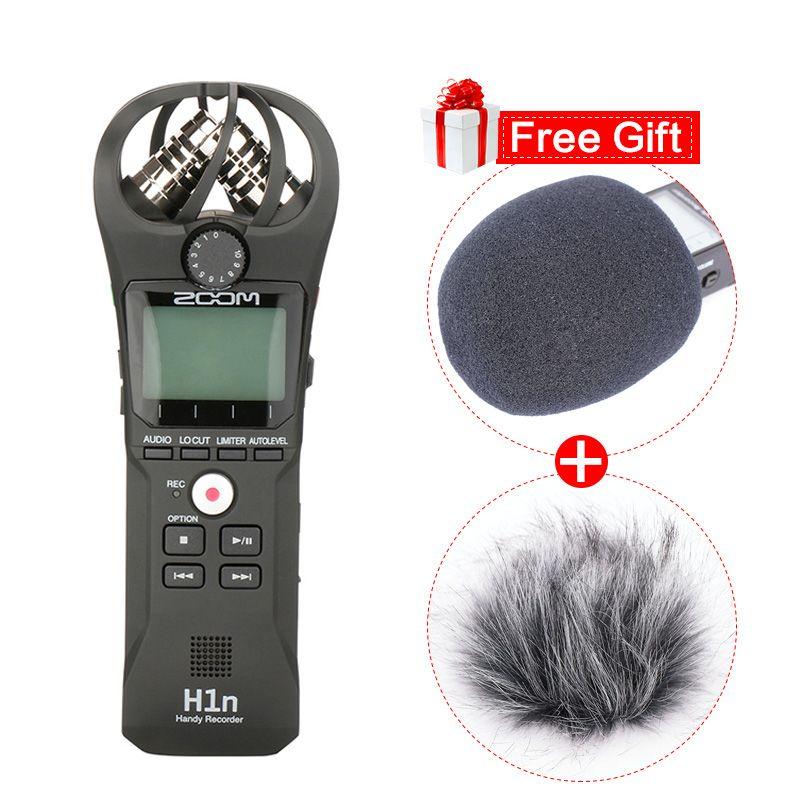 ZOOM H1N Pen Handlicher Recorder Digitalkamera Audio Recorder Stereo Mikrofon für Video Interview DSLR Kamera Aufnahme Mikrofon
