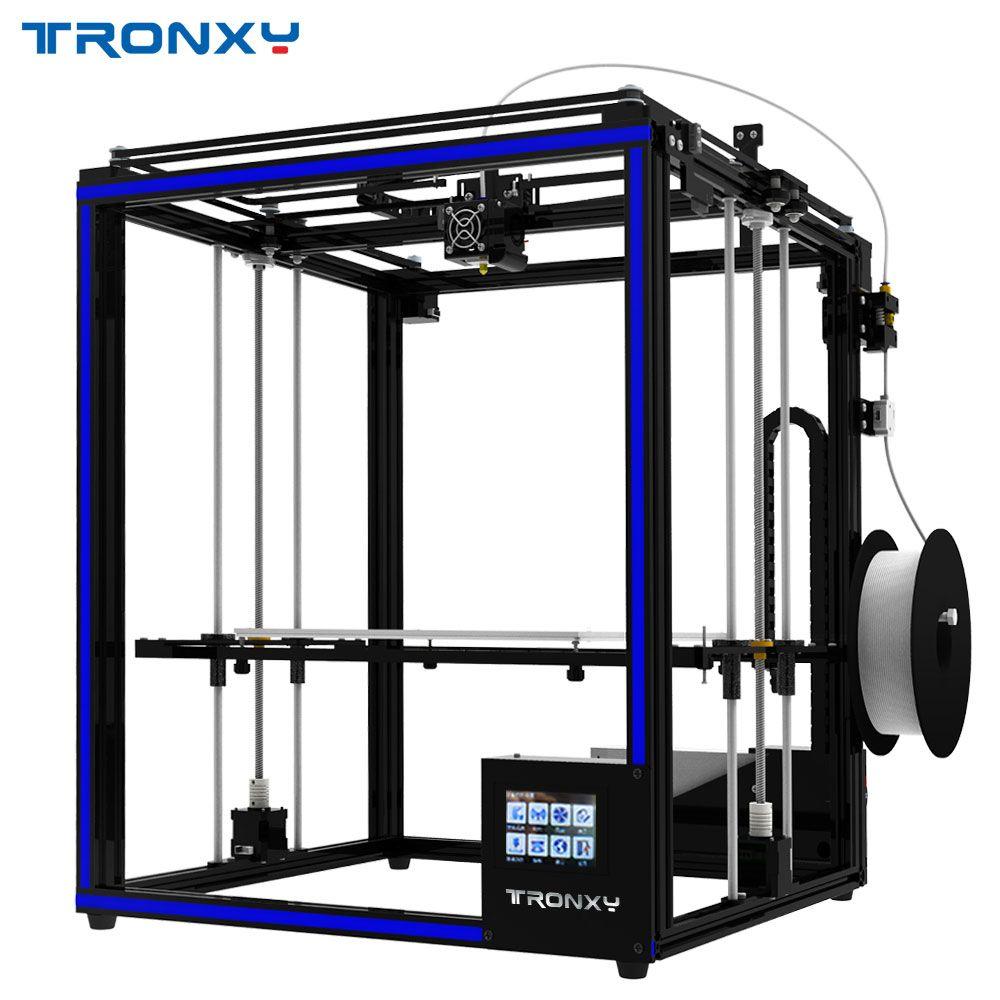 2018 Tronxy 3D drucker X5SA-400 Größere druck größe 3,5 zoll TFT Touch Screen PLA ABS Filament
