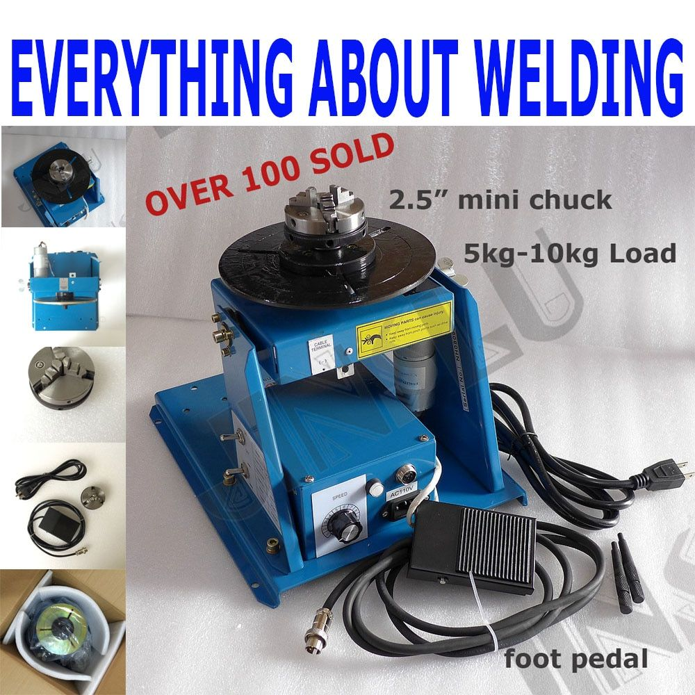 Video Inside 220V BY-10 Mini Welding Positioner Turntable 3 Jaw Lathe Chuck K01-63 M14 Pipe Welding Table semi-automatic welding