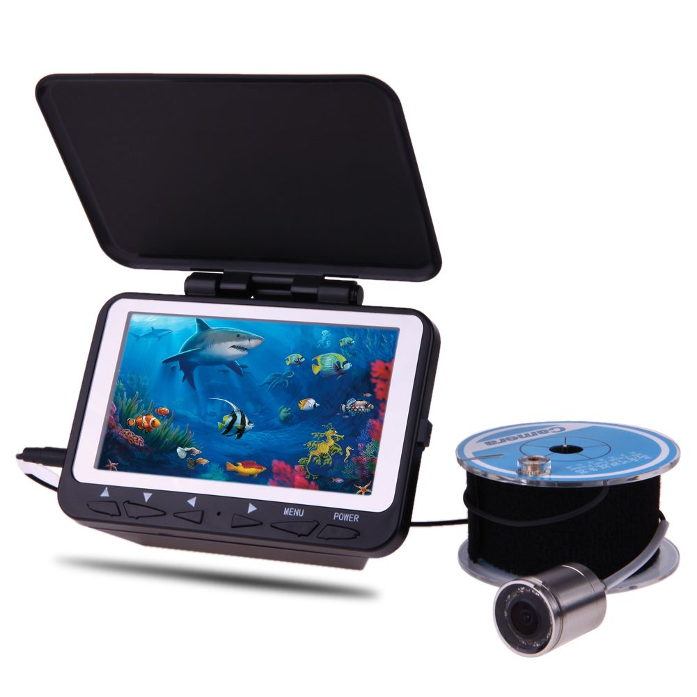 1000TVL Underwater Camera Fishing Finder Video Fish Finder 4.3 inch LCD Monitor 15-30M Cable 8LED IR Night Vision Visual Camera