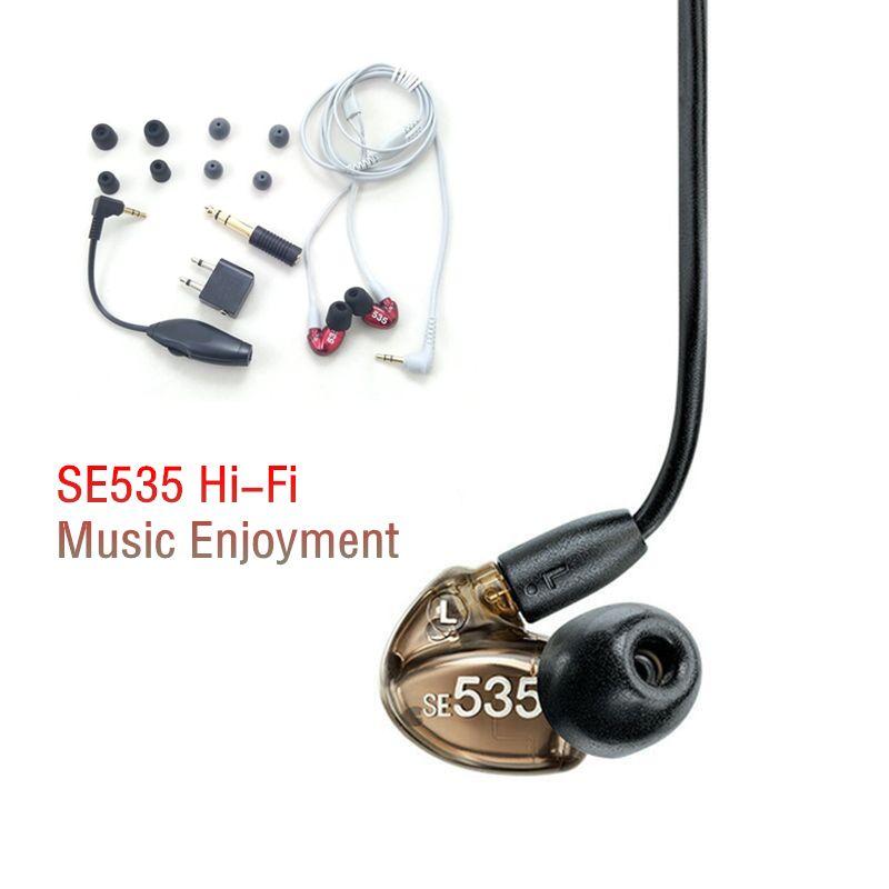 Schiff in 48 Stunden Marke SE535 Abnehmbare Kopfhörer Hallo-fi stereo Headset SE 535 In ear-ohrhörer Separates Kabel mit Box VS SE215