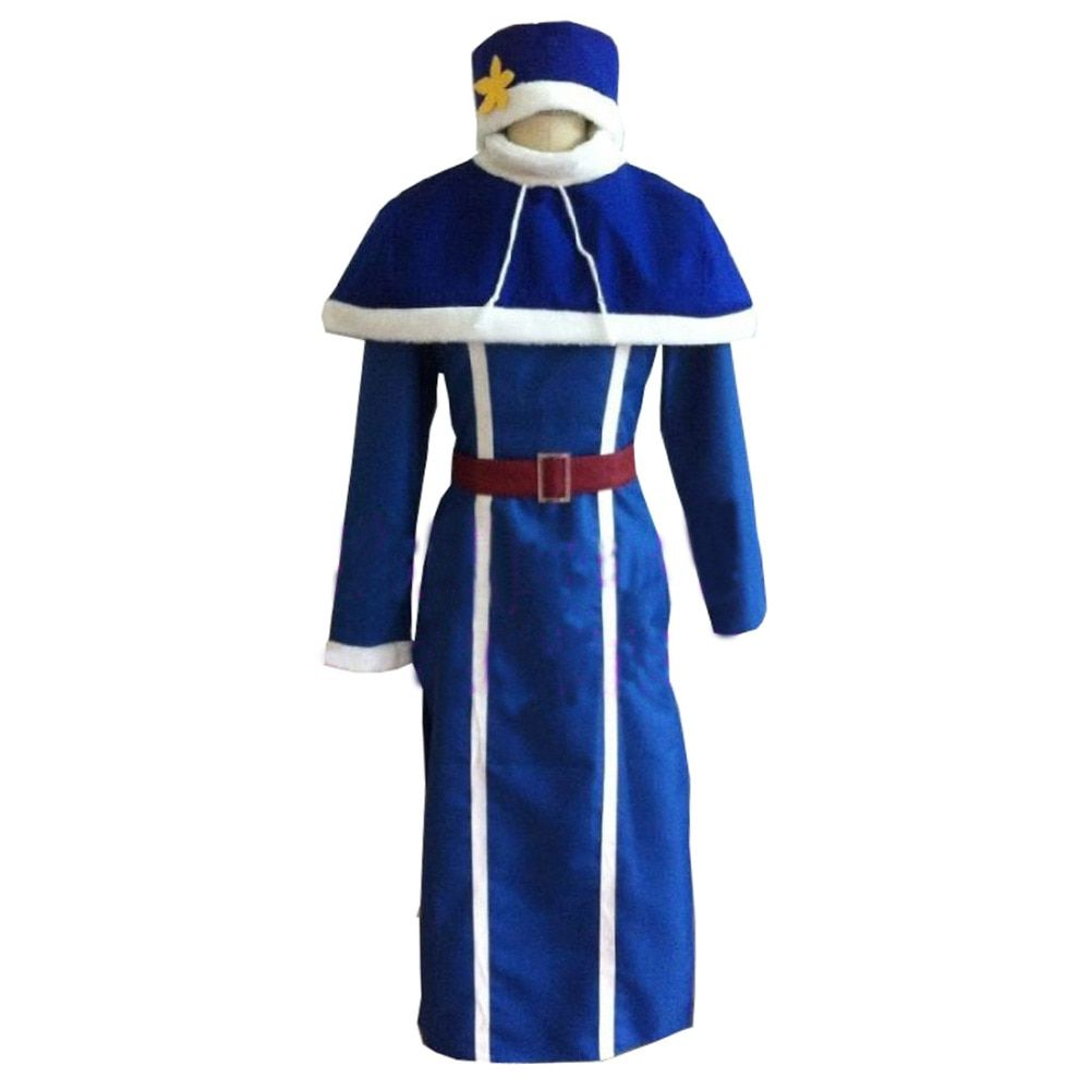 2016 Fairy Tail Juvia Lockser dress Cosplay Costume Full Set All Size Custom Made Anime Clothing+hat