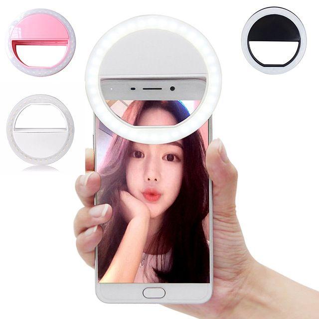 Luxe Universal LED Flash Light Up Selfie Lumineux Téléphone Anneau pour iPhone 6 6 S Plus LG Samsung Pour xiaomi Huawei comprimés