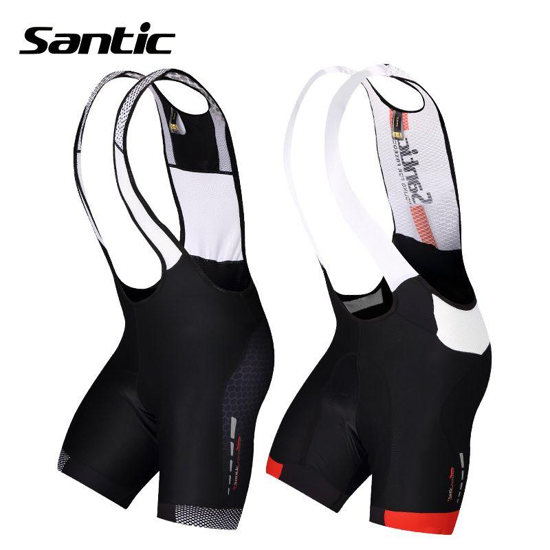 Santic Cycling Shorts 4D Padded Downhill Bicycle Shorts Breathable Mesh Brace Mountain <font><b>Road</b></font> Bike Shorts Bermuda Ciclismo For Men