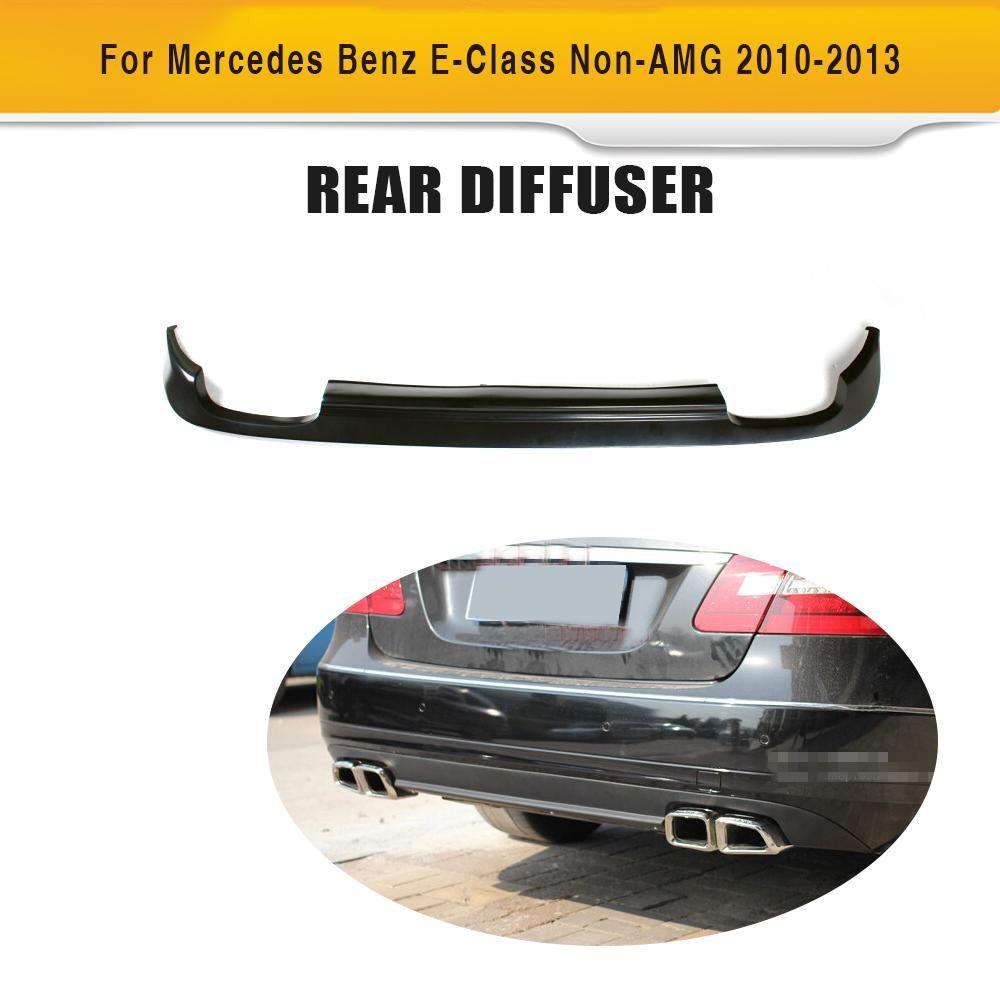 PU car auto rear bumper lip diffuser for benz E-Class W212 Non-AMG 2010-2013