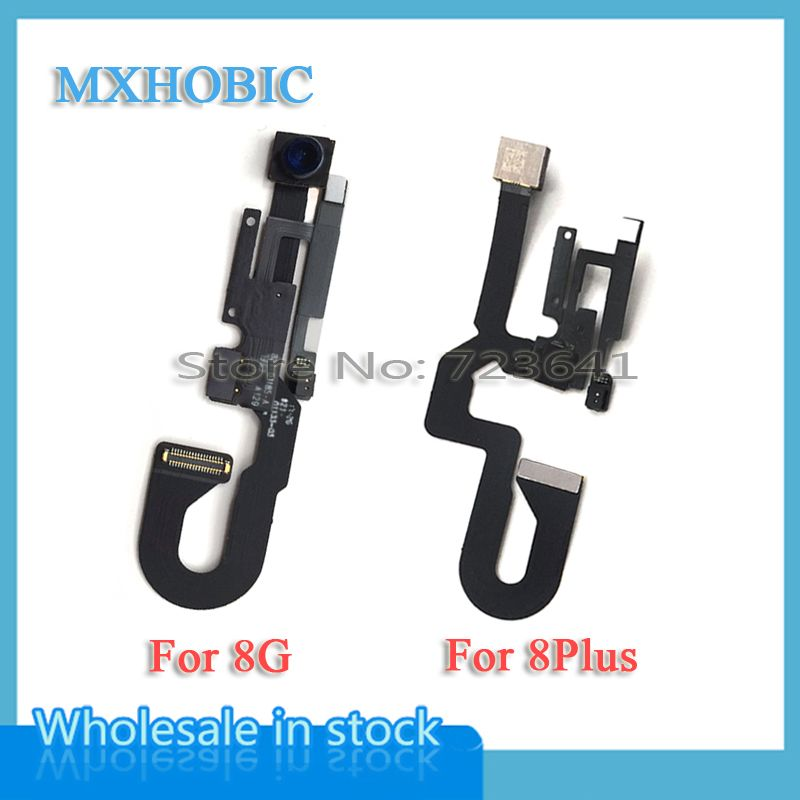 MXHOBIC 1pcs Small Front Camera for iPhone 8 8G plus Light Proximity Sensor Flex Cable Facing Module Replacement Parts
