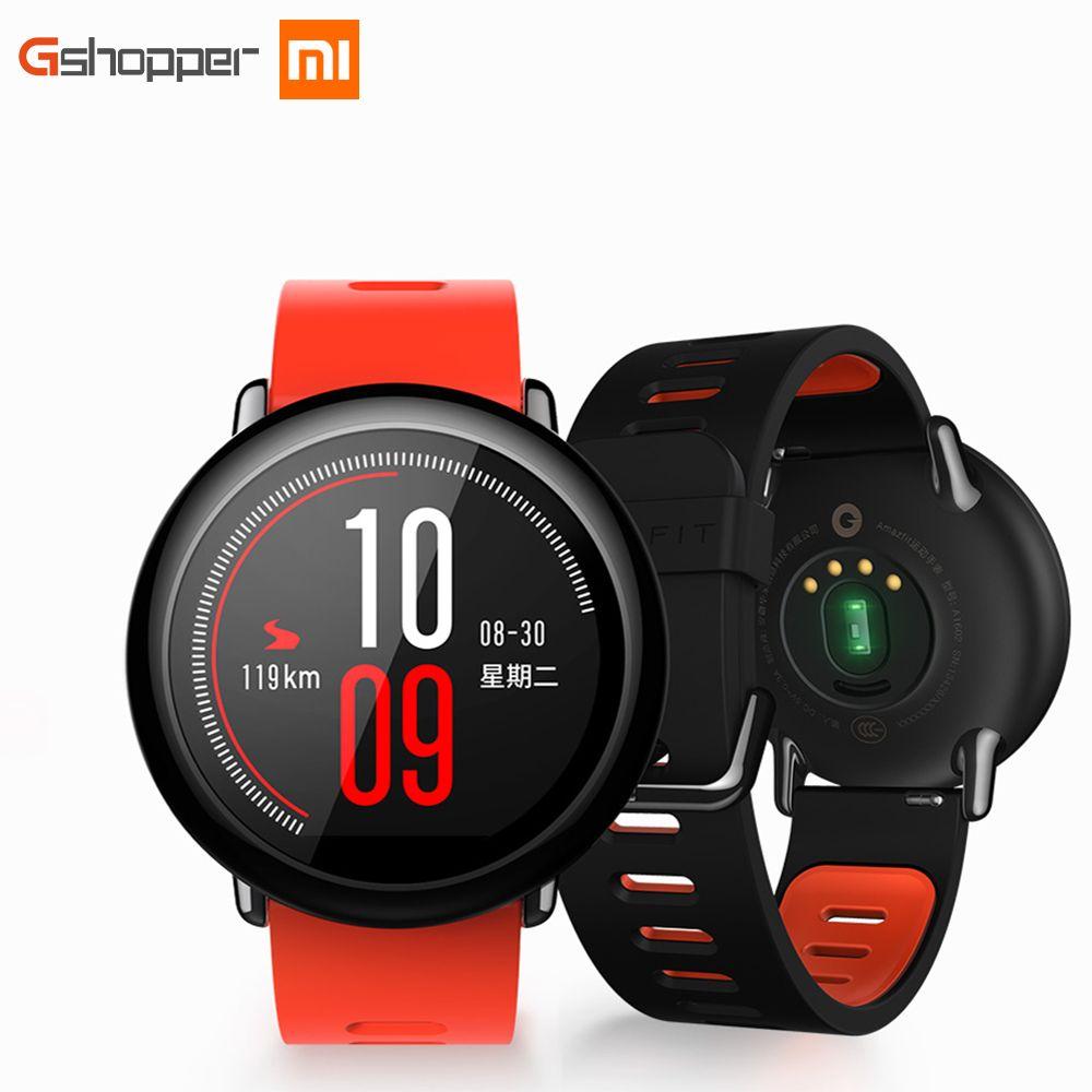 Оригинальный Xiaomi huami часы Amazfit темп спортивные Смарт-часы английская версия Bluetooth 4.0 сердечного ритма Мониторы GPS для iOS и Android