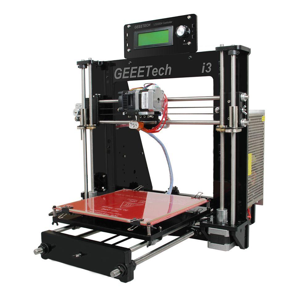 Geeetech 3D Imprimante 8 MM Acrylique Cadre Reprap i3 Pro DIY Kit Support Multi Matériaux LCD2004