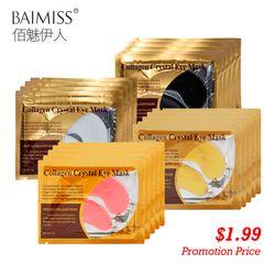 BAIMISS 5pair=10pcs 24K Gold Serum Eye Mask Anti-Aging Anti Wrinkle Remove Dark Circle Collagen Eye Patches Skin Care Cream
