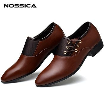 NOSSICA Brand Men's Dress Shoes Men Business Flat Shoes Free Shipping Breathable Men Formal Office Shoes Plus Size 6.5-13