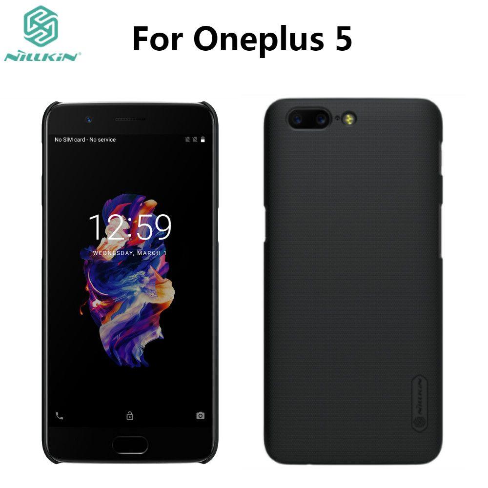Oneplus 5 étui One Plus 5 housse originale NILLKIN Super givré bouclier pour Oneplus 5 A5000 mat étui avec protecteur d'écran