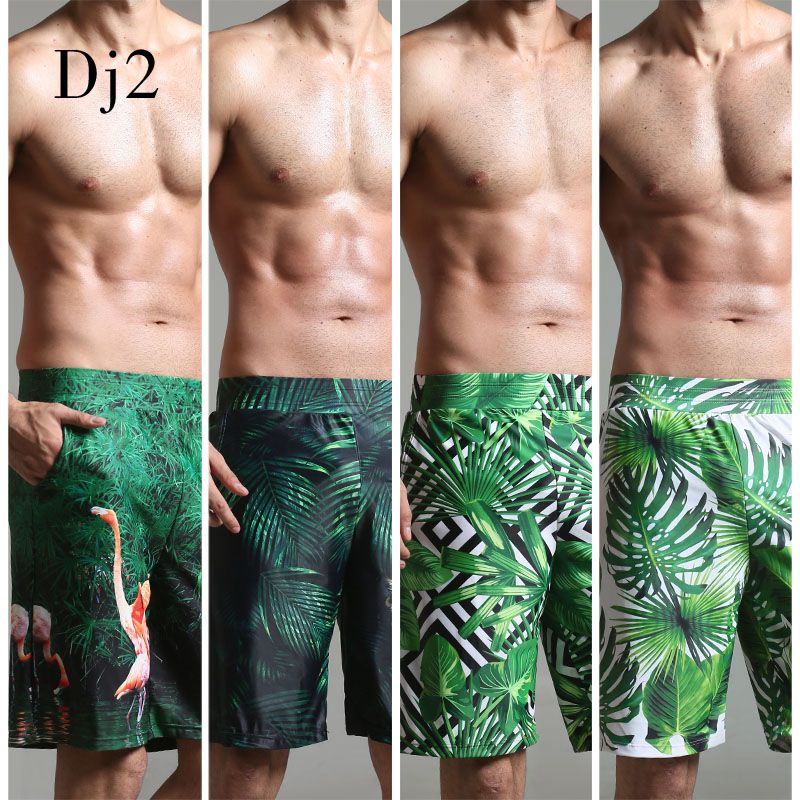 2017 Swimwear Men Brand High-end Digital Print Beach Wear Men Long Trunks Swim Briefs Surf Beach Wear Swimming Pool Shorts Male