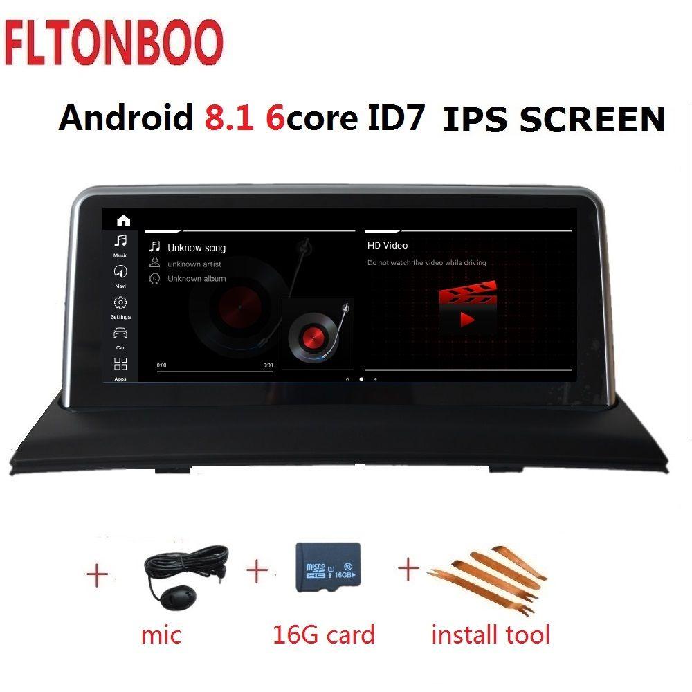 10,25 zoll Android 8.1 Auto Gps radio plyaer navigation ID7 für BMW X3 E83 unterstützung 2 GB RAM 32 GB ROM 6 CORE wifi bluetooth