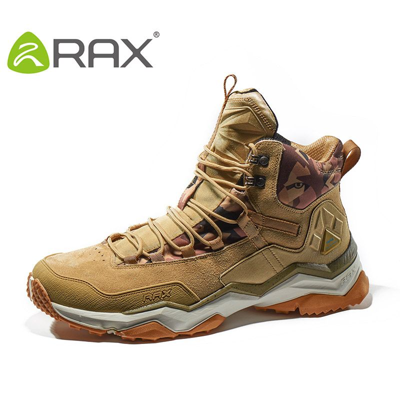 RAX Men Women Mid-top Waterproof Leather Hiking Shoes Outdoor Trekking Boots Trail Camping Climbing Outventure Hunting Shoes