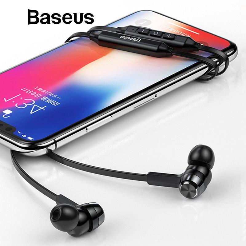 Baseus S06 Neckband écouteurs bluetooth Sans Fil écouteurs Pour Xiaomi iPhone écouteurs stéréo auriculares fone de ouvido avec MIC