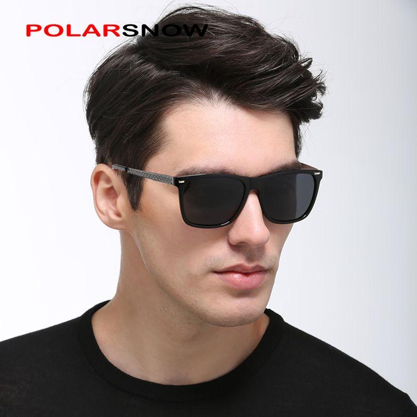 POLARSNOW Mode Polarisées lunettes de Soleil Hommes Concepteur de Marque Unisexe Lunettes de Soleil Lunettes de Conduite Lunettes Classique Rétro Oculos