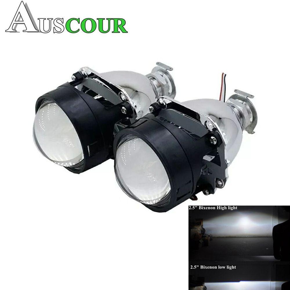 2.5 inch bixenon hid car Projector lens fit for H1 H4 H7 car headlight Headlamp lamp bulb car assembly kit free shipping Modify