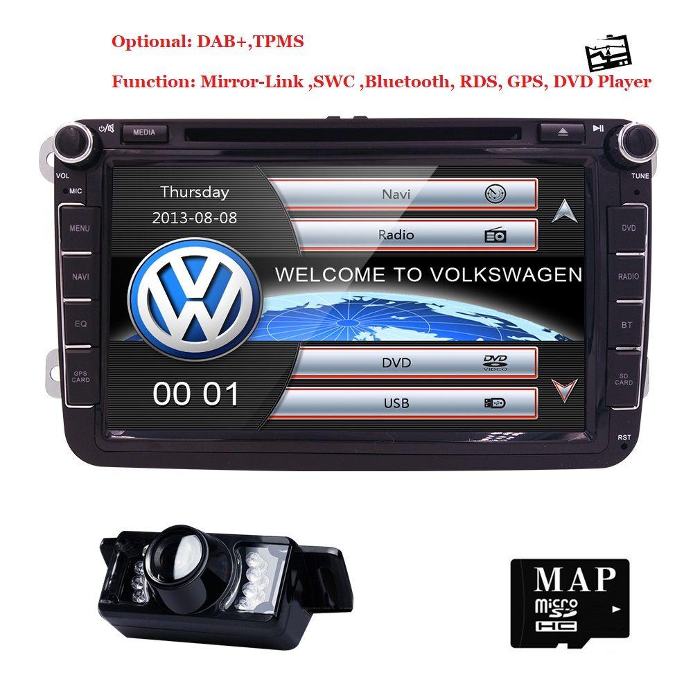 8 2din Auto DVD für Volkswagen V W golf 4 golf 5 6 touran passat B6 sharan j etta caddy transporter t5 polo tiguan MIRRORLINK TUPFEN