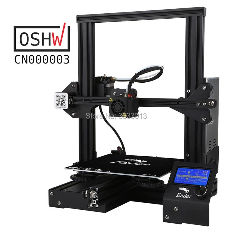 Newest Ender-3 DIY Kit 3D printer Large Size I3 mini Ender 3/Ender-3X printer 3D Continuation Print Power Creality Ender-3