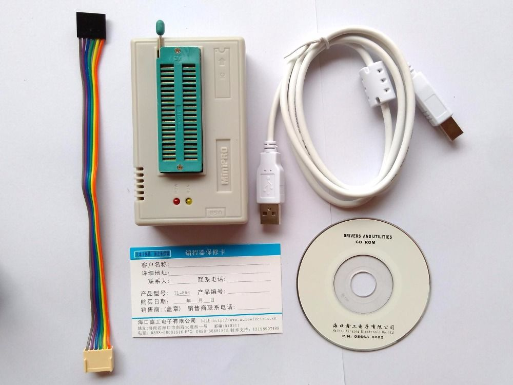 V7.11 XGecu TL866II Plus programmer TL866ii 1.8V nand flash 24 93 25 eprom avr usb mcu Bios EPROM better than TL866A/CS