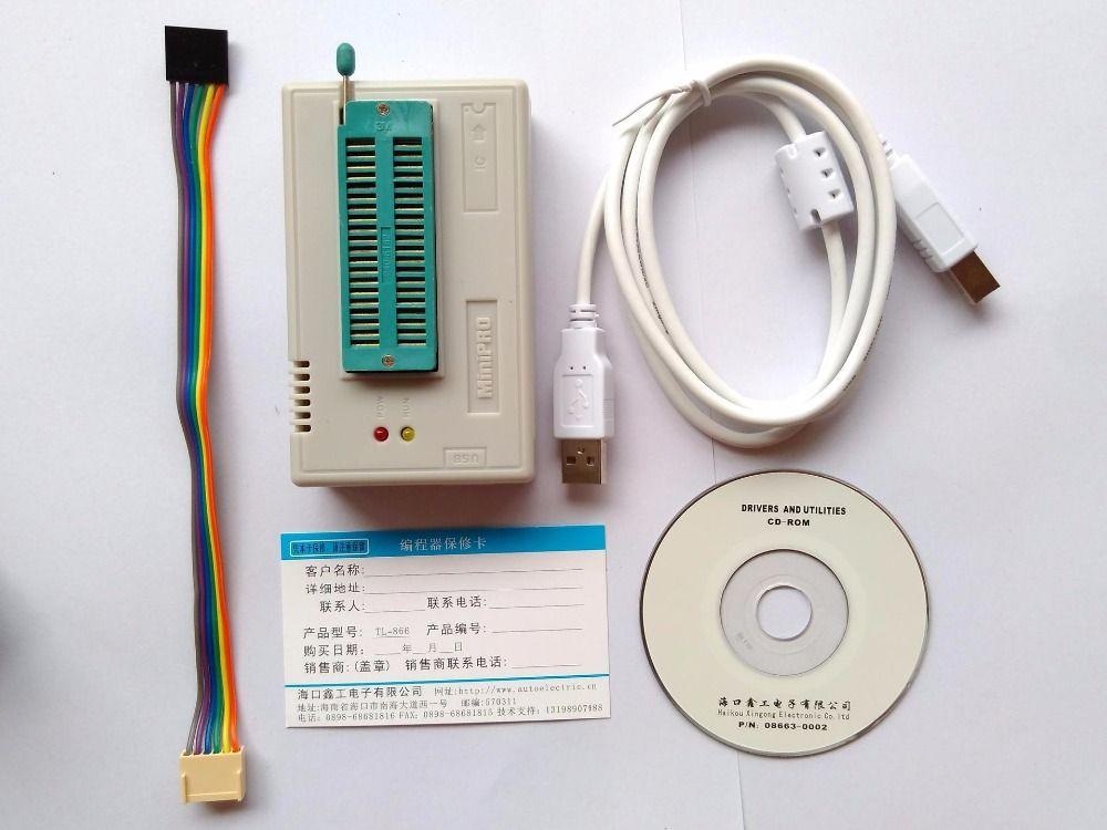 V8.11 XGecu TL866II Plus programmeur TL866ii 1.8 v nand flash 24 93 25 eprom avr usb mcu Bios EPROM mieux que TL866A/CS