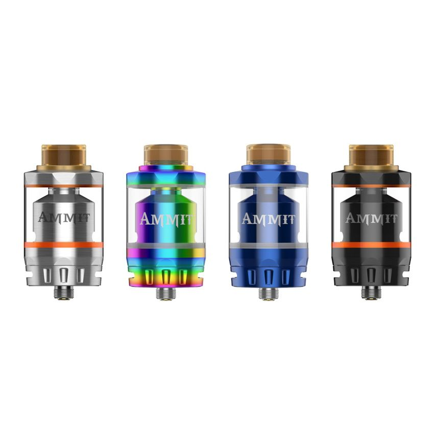 Original Geekvape Ammit Dual Coil RTA Tank 3ml/6ml Capacity Support Both Dual and Single Coil Ammit tank For box mod