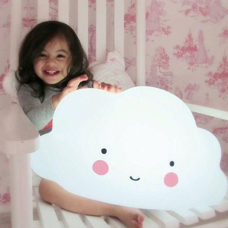Control de sonido + Touch Interruptor de Gran Tamaño Nube Nube luz Luz LED cara Sonriente de la Historieta del Cabrito decoración de la habitación la noche luz juguetes Para Niños