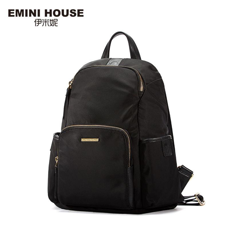 Эмини дом Многофункциональный рюкзак Водонепроницаемый нейлоновый рюкзак для ноутбука Для женщин сумка Рюкзаки для подростков Обувь для д...