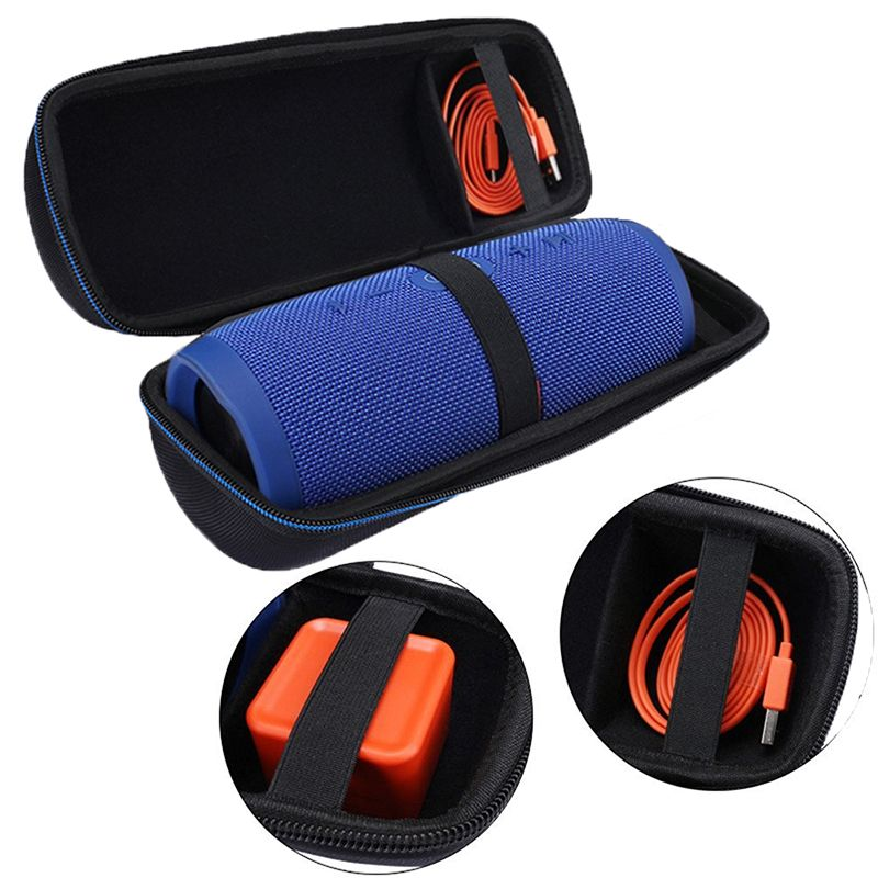 Hard Case Travel Carrying Storage Cover Pouch Box Bag Case For JBL Charge 3 Charge3 Pulse 2 -Fits for Plug&Cables(With Belt)