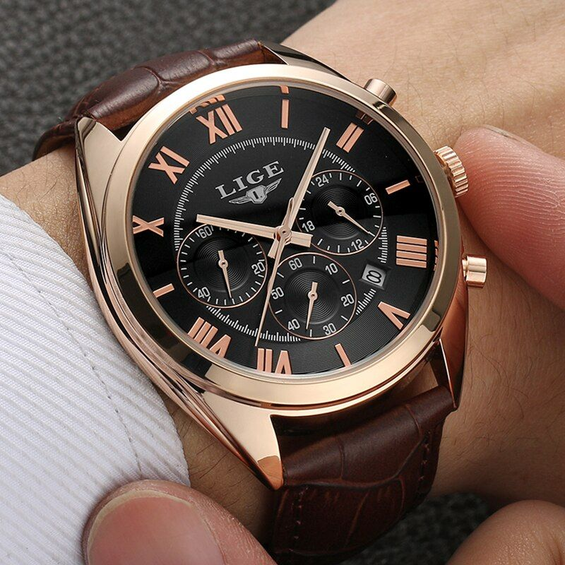 Mens Watches Top Brand Luxury LIGE Multifunction Chronograph sports Watch Man Fashion Quartz Watches Men Clock Relogio Masculino