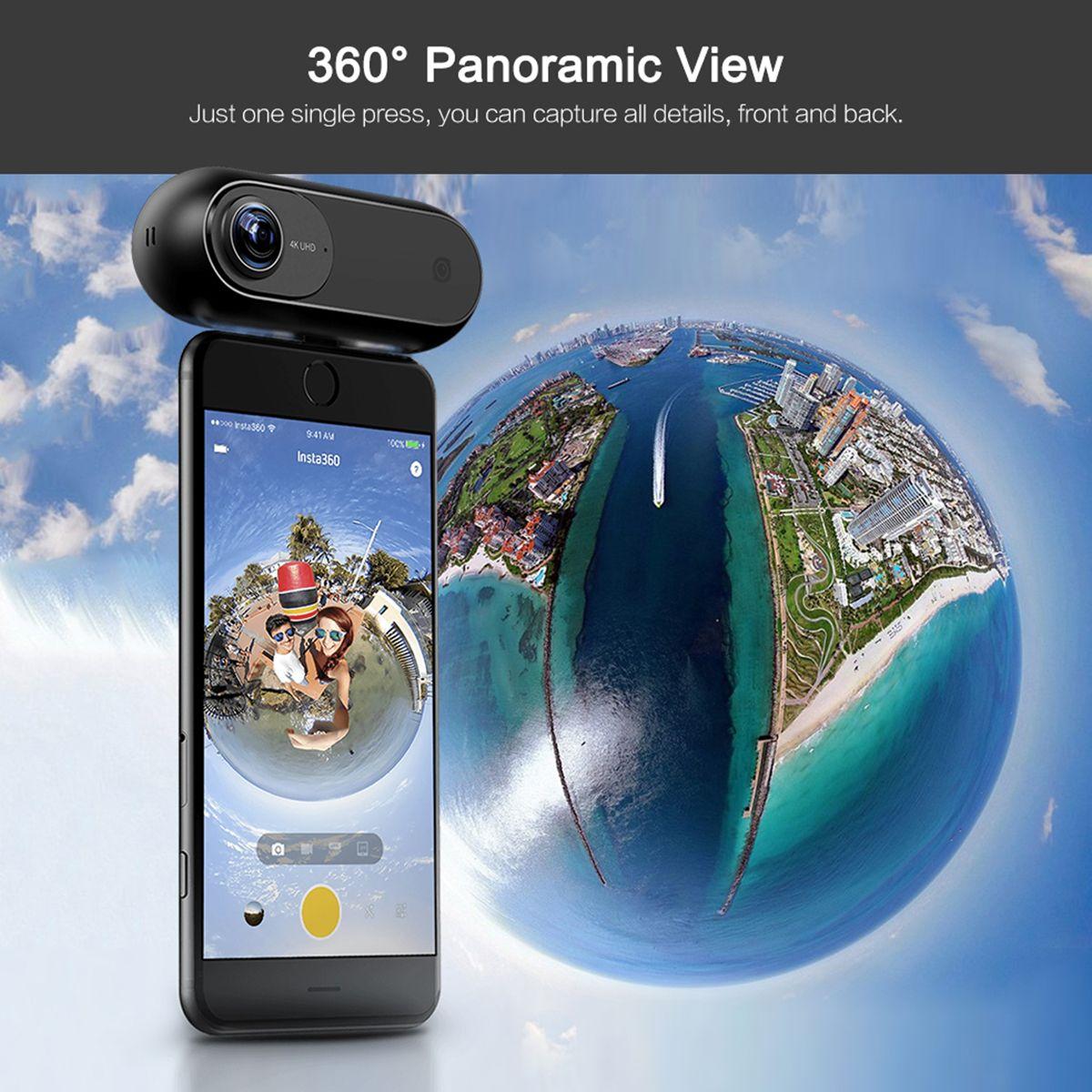 2018 Insta360 EINE 4 karat 360 Panorama Kamera VR Video Sport Action Kamera 24MP Kugel Zeit 6-Achse Gyroskop webcast für iPhone Cam