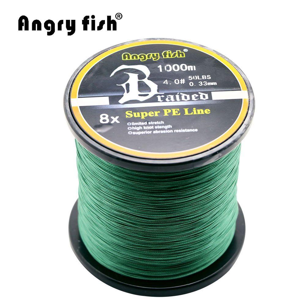 Angryfish Gros 1000 Mètres 8x Tressé Ligne De Pêche 11 Couleurs Super PE Ligne