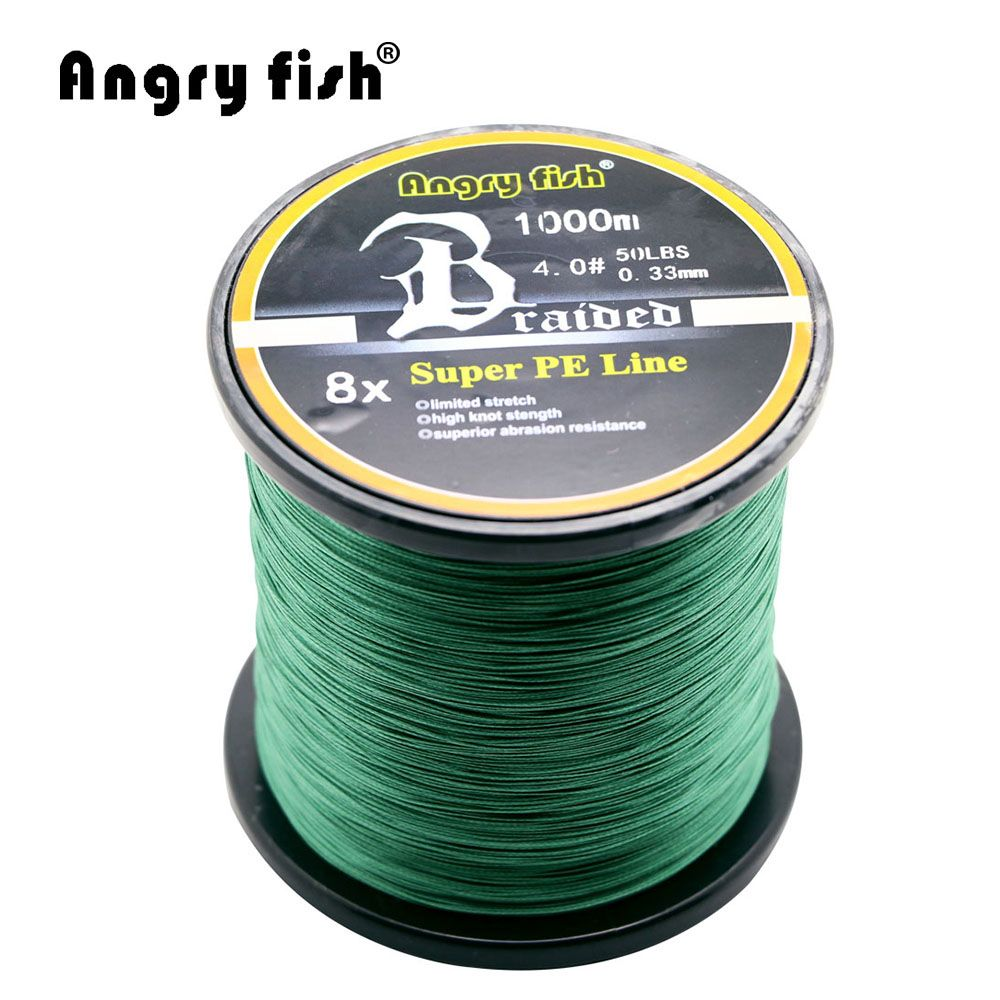 Angryfish Wholesale 1000 Meters 8x Braided Fishing Line 11 Colors Super PE Line